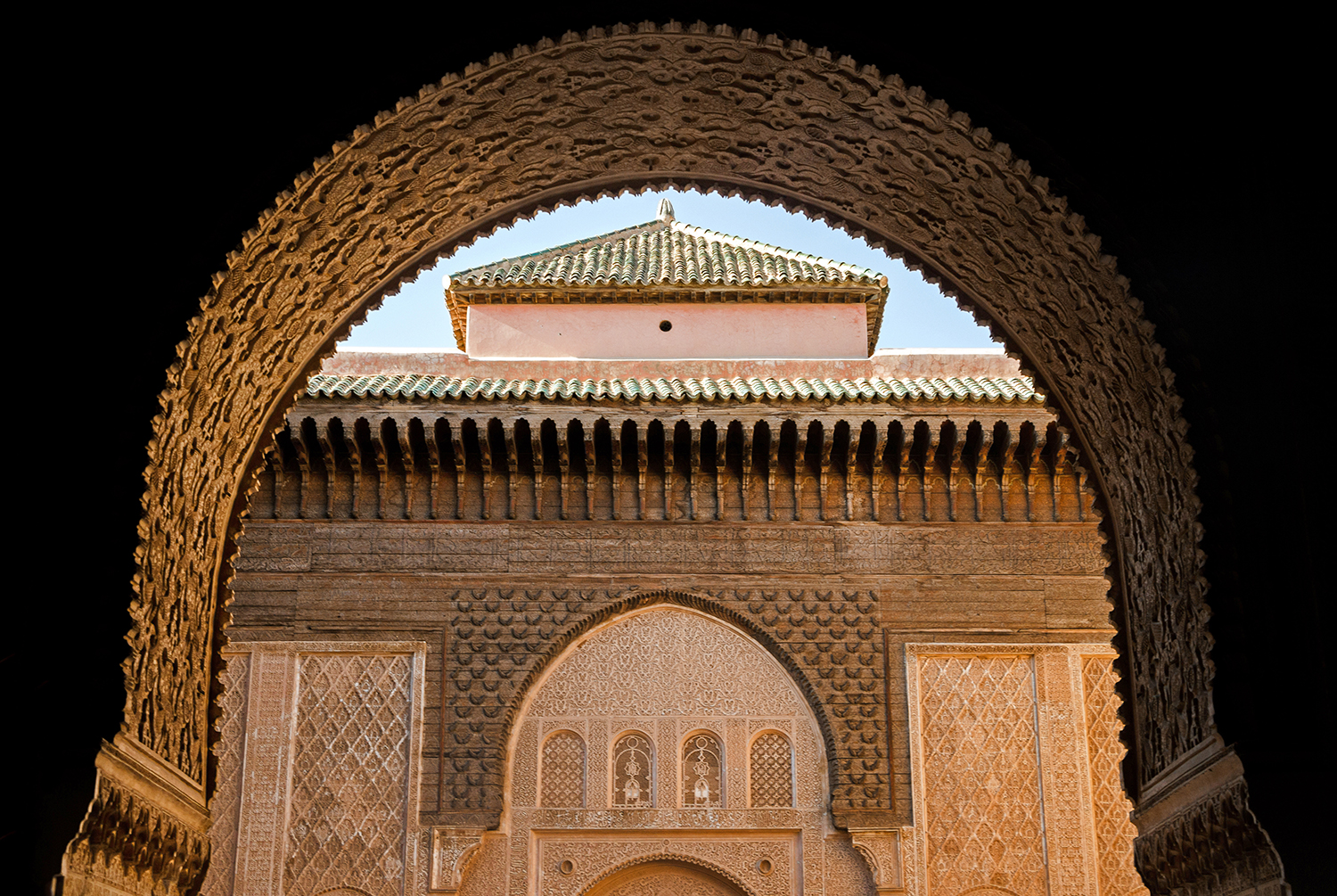architecture in Ben Youssef Madrasa