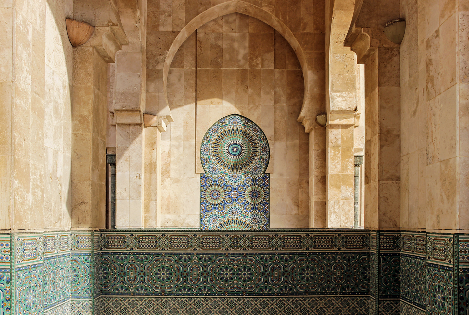 architecture at Hassan II Mosque in Casablanca